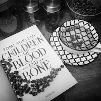 A tea blend based on Chȃndomblé from Children of Blood and Bone by Tomi Adeyemi