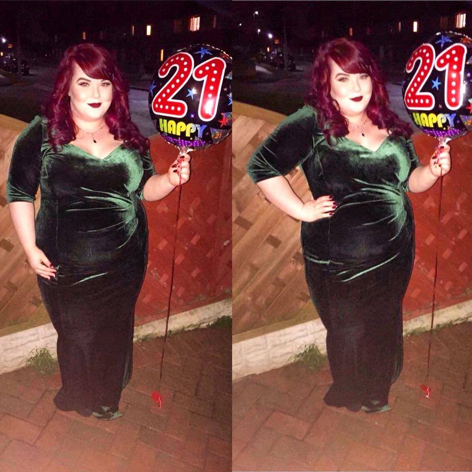 05fd5c025675b 21st Birthday Dress - The Scarlett   Jo Green Velvet Maxi! - She ...