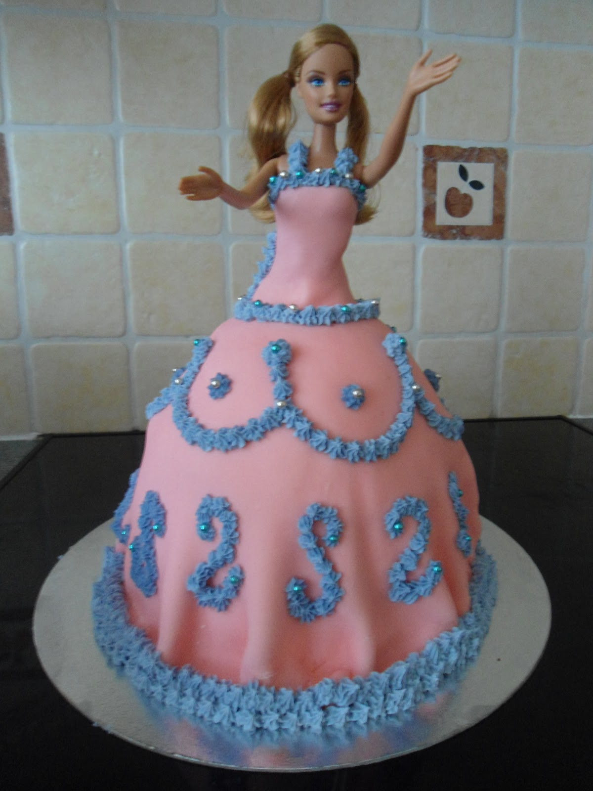Barbie Doll Birthday Cake Tin