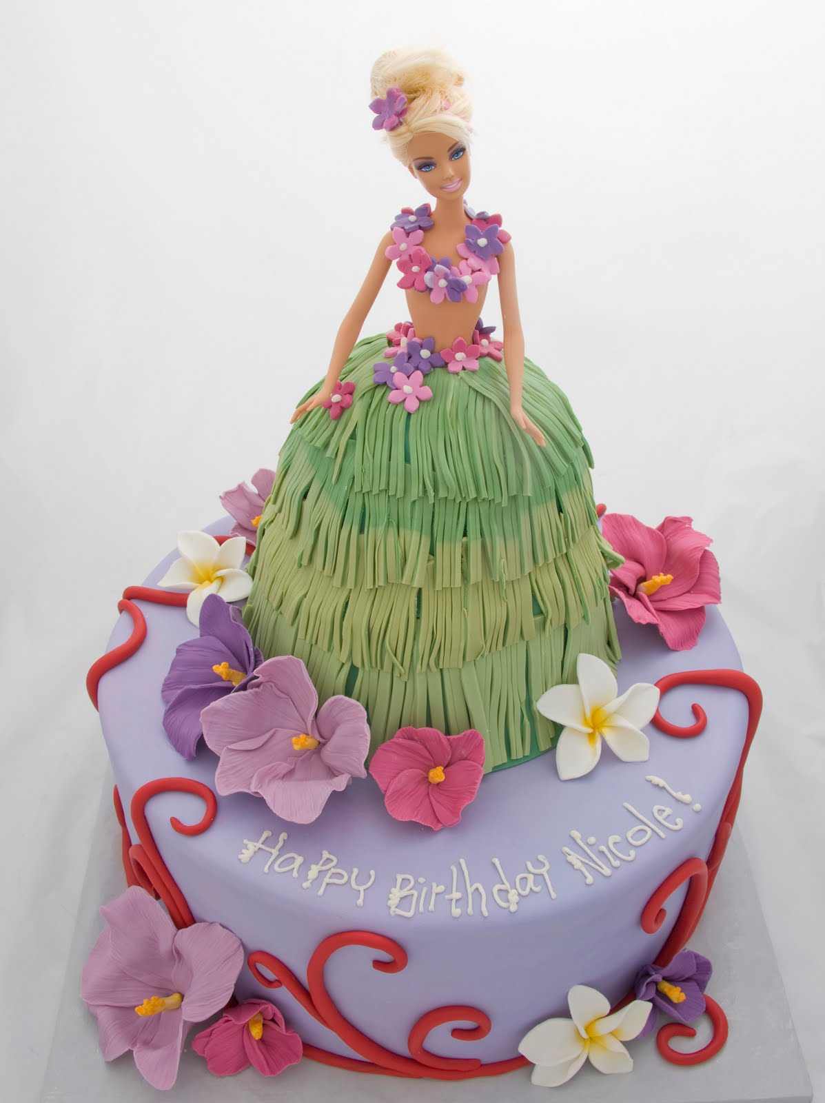 The Crimson Cake Blog Hula Tropical Island Barbie Cake