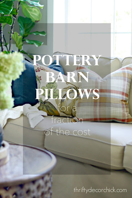 How I make Pottery Barn pillows for cheap!