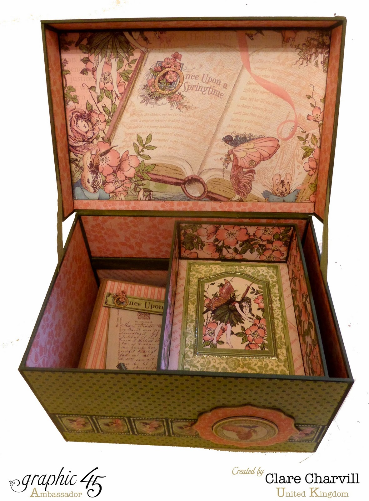 Once Upon a Springtime This N That Box Interior Clare Charvill Graphic 45