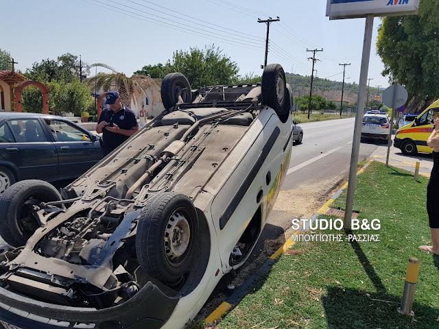 Τροχαίο ατύχημα με τρία αυτοκίνητα στο Ναύπλιο