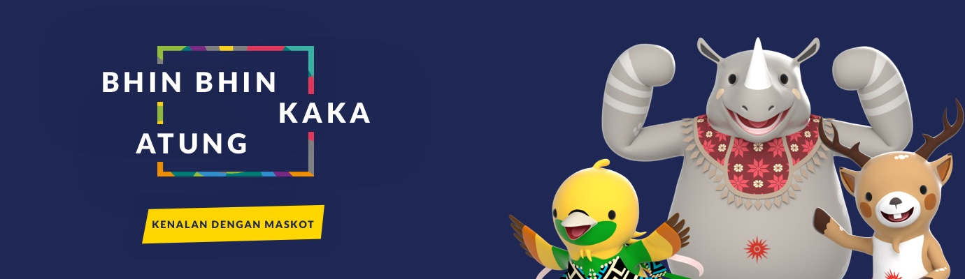 Kosakata Nama-nama Maskot Asian Games 2018 Dalam Bahasa Inggris, Atung, Kaka, Bhin Bhin