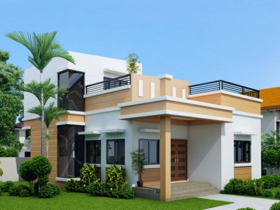 35 small and simple but beautiful house with roof deck - Simple House Design With Second Floor