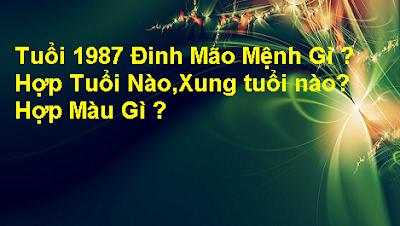 Tuoi 1987 Dinh Mao