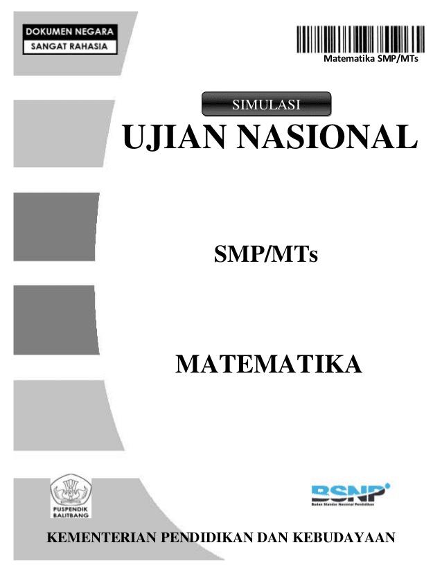Soal Un Smp 2019 : Prediksi, Tahun, Mapel, Matematika, TERLENGKAP