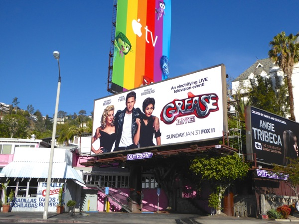 Grease Live billboard