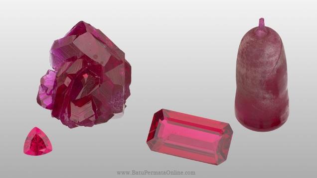Batu Ruby Sintetis