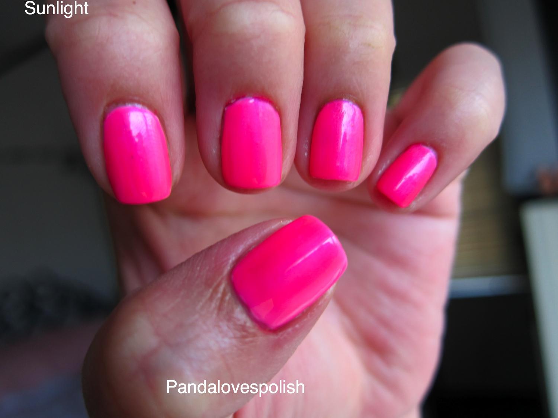 Panda Loves Polish China Glaze Pink Voltage