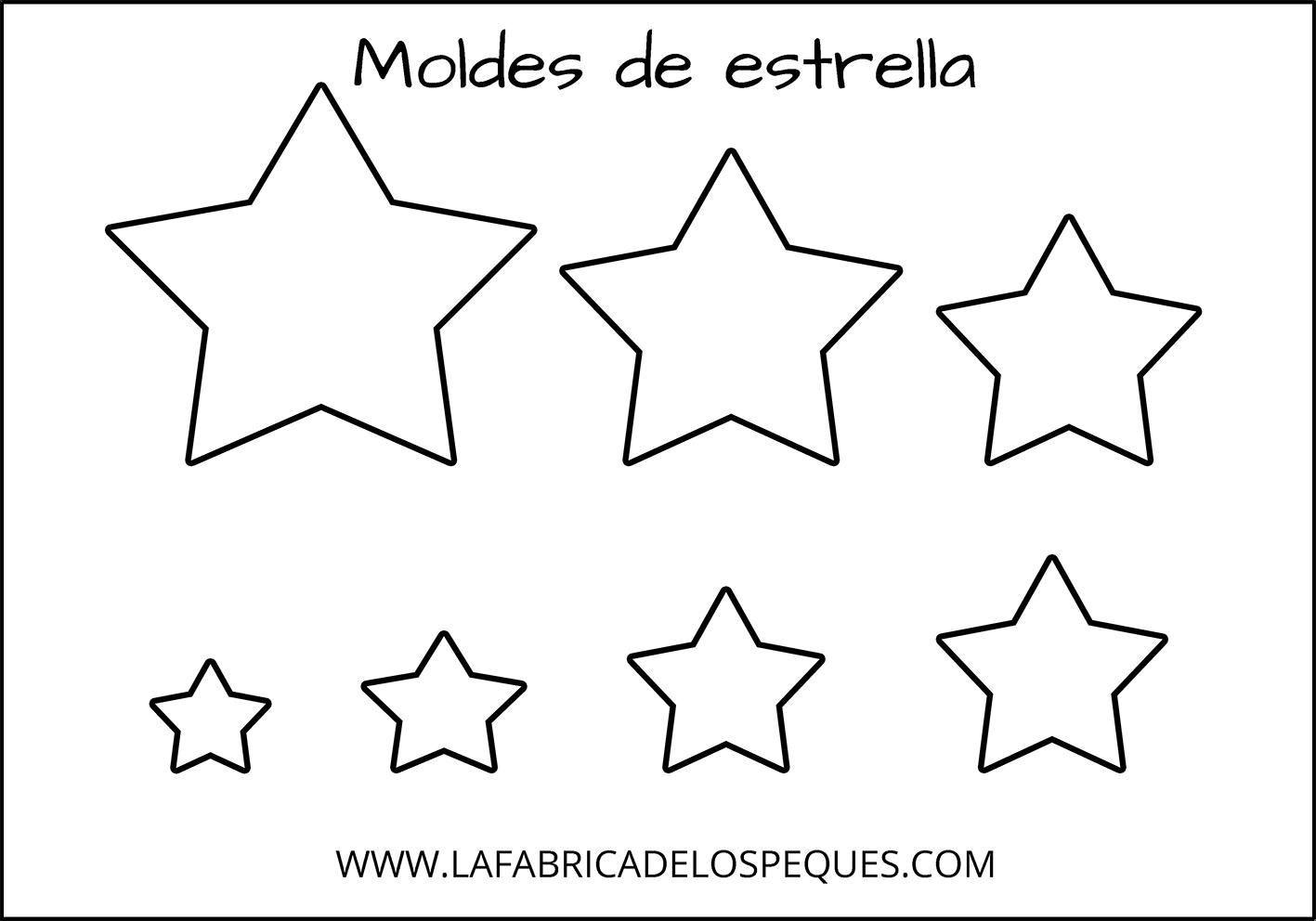 Moldes De Estrelas Para Imprimir