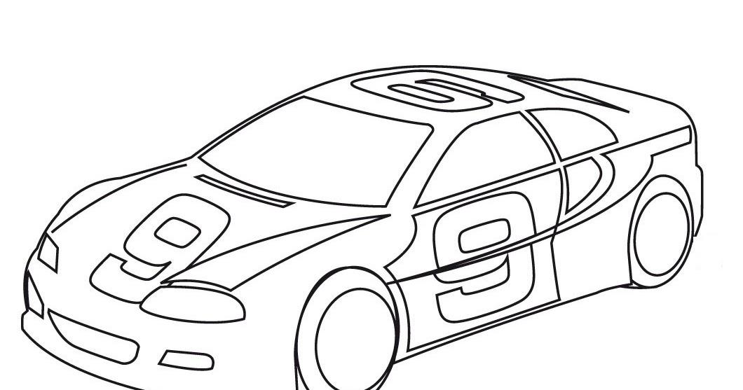 Imagenes De Carros Para Colorear: Dibujo De Carro De Carrera Para Colorear