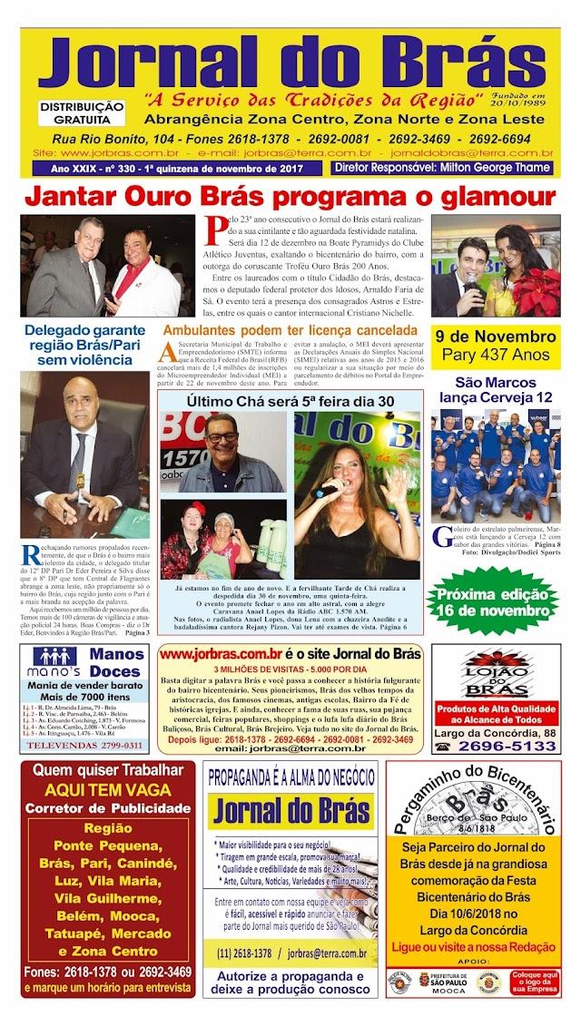 Destaques da Ed. 330 - Jornal do Brás