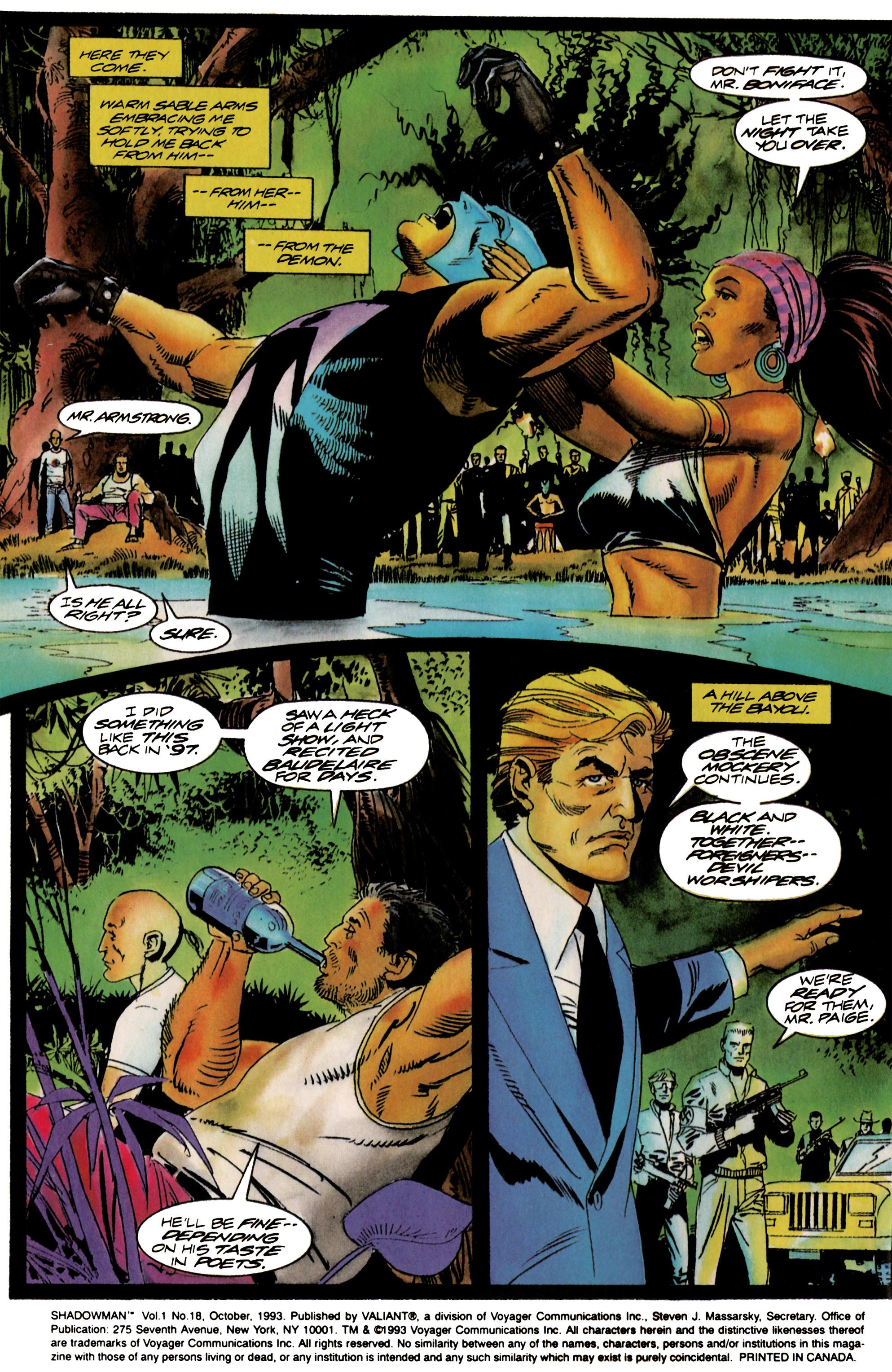 Read online Shadowman (1992) comic -  Issue #18 - 3