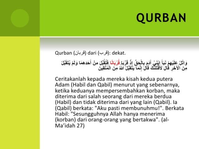 Berikut Kesimpulan Mudzakarah Tentang Variasi Pelaksanaan Ibadah Qurban Ditinjau Dari Dimensi Syari Ah Dan Kesehatan