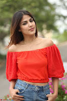 Rhea Chakraborty in Red Crop Top and Denim Shorts Spicy Pics ~  Exclusive 227.JPG