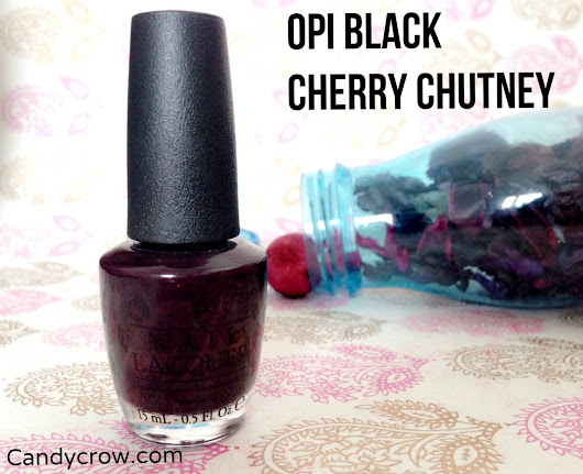 OPI Black Cherry Chutney Review