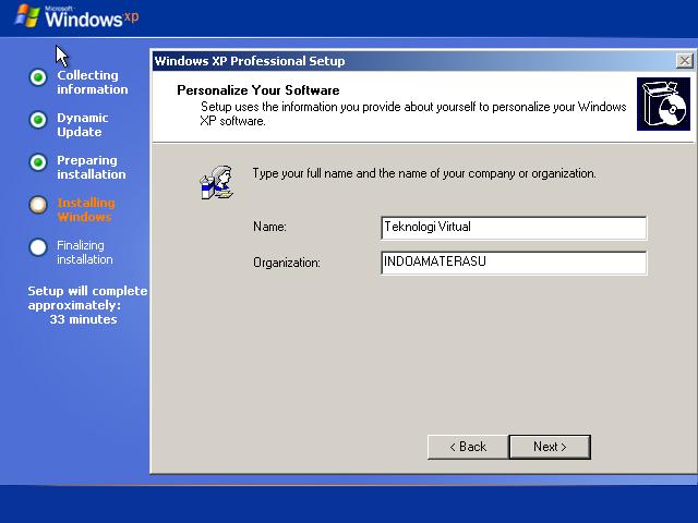 Cara Install Windows XP (Lengkap Dengan Gambar) 9