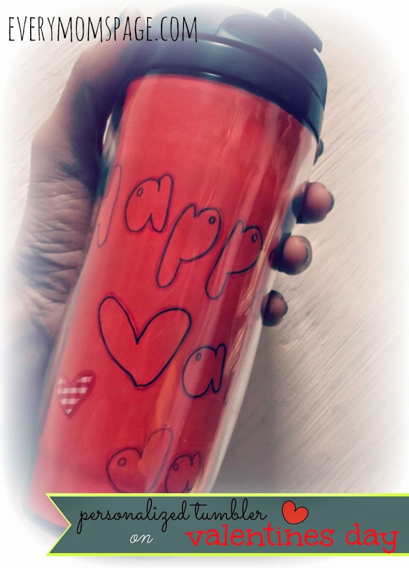 #DIY: Personalized Tumbler for Valentines
