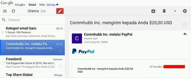 Cara Mendapatkan 20$ Dolar dari Commhubb