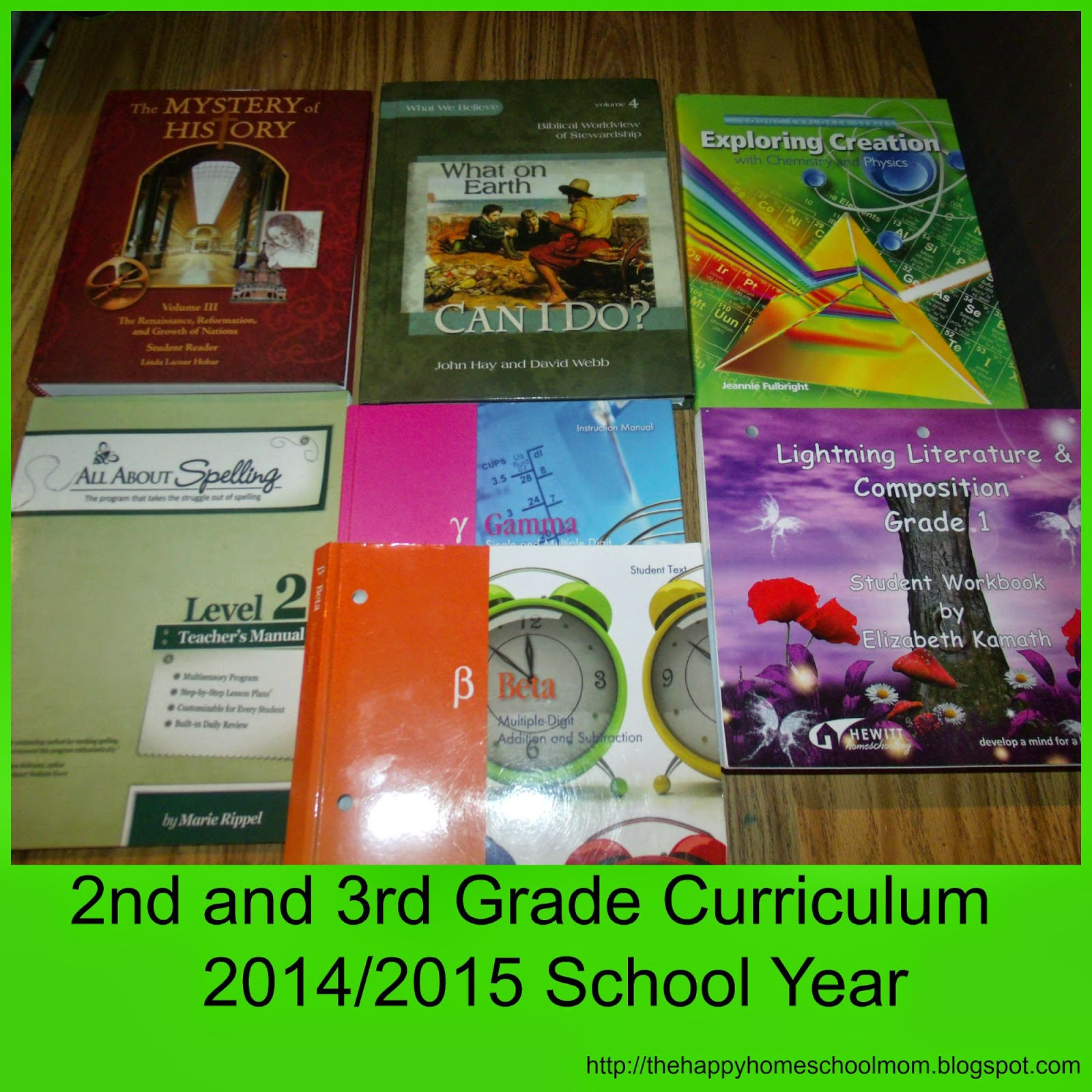 The Happy Homeschool Mom 2nd And 3rd Grade Curriculum Choices For The School Year
