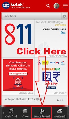 how to request cheque book in kotak mahindra bank
