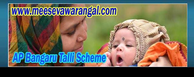 AP Bangaru Talli Scheme Online Apply - Download Application on bangarutalli.ap.gov.in