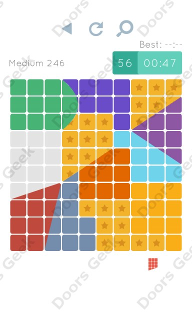 Cheats, Walkthrough for Blocks and Shapes Medium Level 246