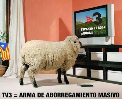 tv3 , Cataluña, arma aborregamiento masivo, Espanya et roba, boba