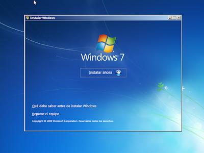 instalar ahora windows 7