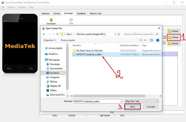 cargar archivo android scatter en flash tools