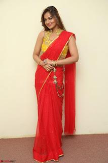 Actress Ashwini in Golden choli Red saree Spicy Pics ~  065.JPG