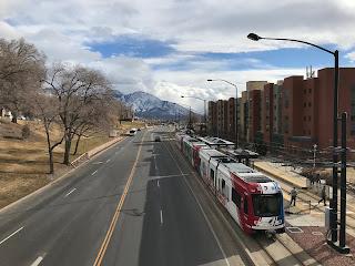 Public Transport: Trax at Fort Douglas, University of Utah