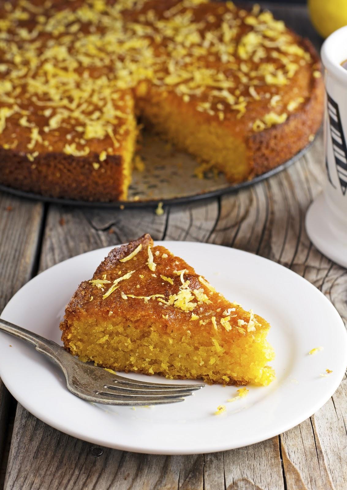 (Gluten-Free) Lemon Polenta Cake