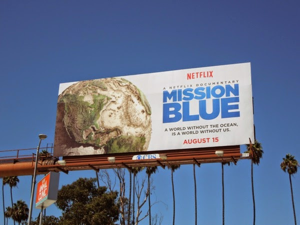 Mission Blue documentary film billboard