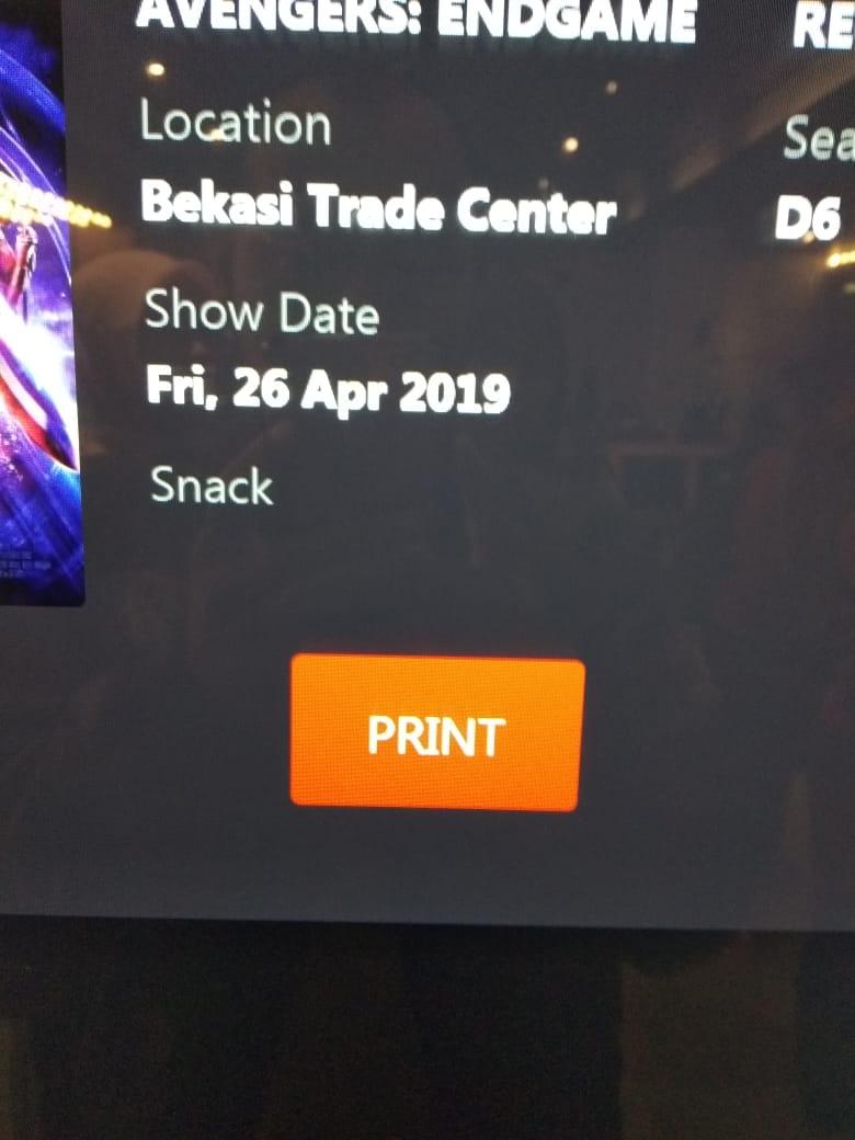 Cara Print Tiket Bioskop Cgv Di Mesin Sefl Ticketing Maraska