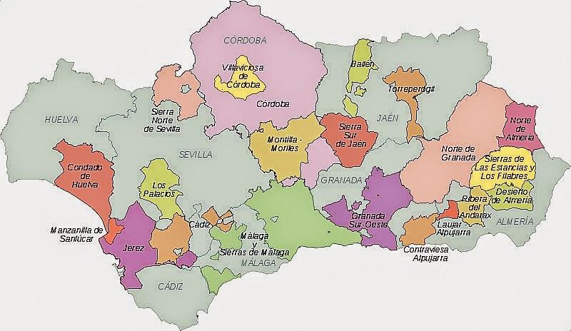 Mapa De Andalucia Politico.Mapa Andalucia Provincia Politico Region Mapa Espana