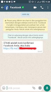 Isi pesan verifikasi melalui Whatsapp