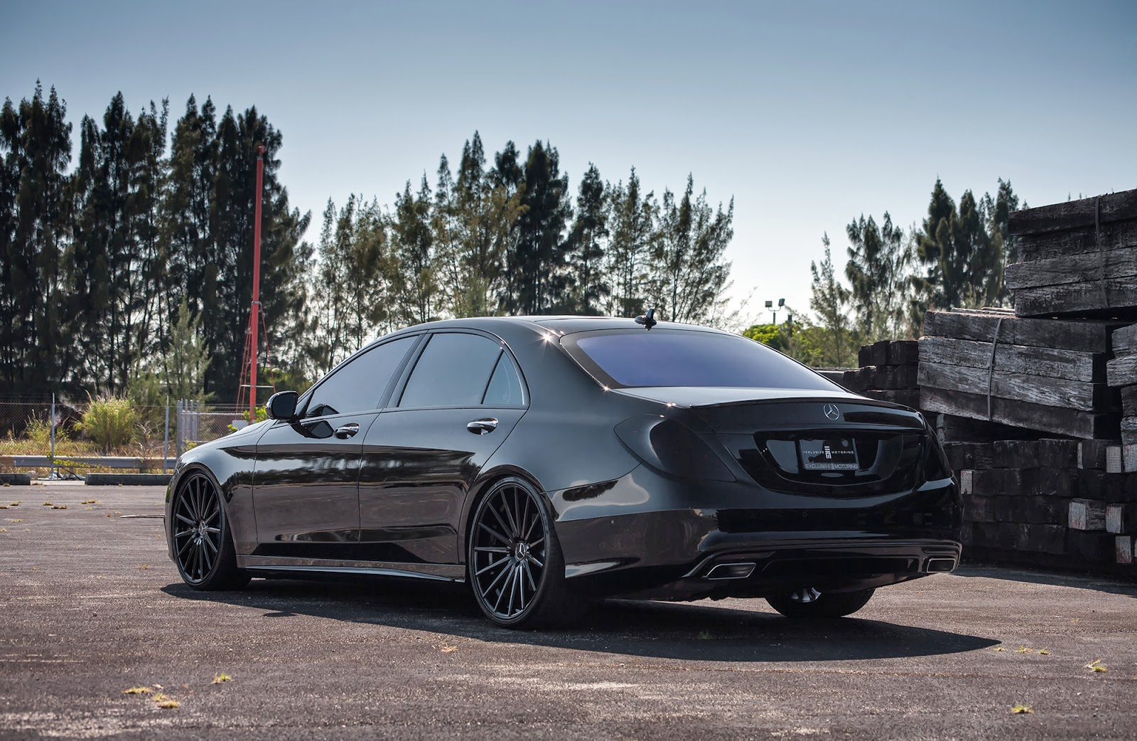 Blacked Out Mercedes S550 On Vossen Wheels By Exclusive
