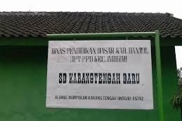 Profil Perpustakaan Sekolah SD KARANGTENGAH BARU, Desa Karangtengah, Bantul Yogyakarta