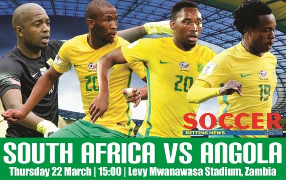 Itumeleng Khune, Kamohelo Mokotjo, Sibusiso Vilakazi, Percy Tau of Bafana Bafana