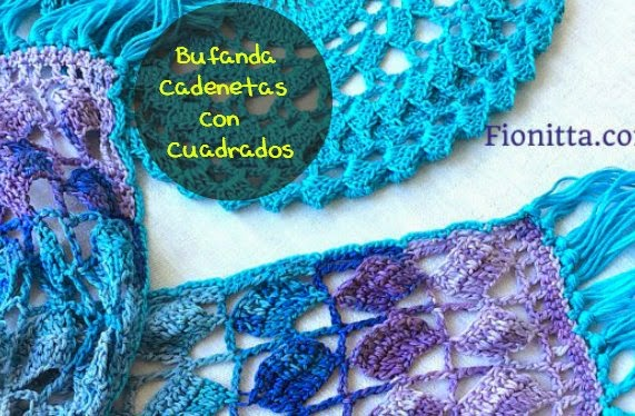 Bufanda-Scarf Verano de Crochet Tutorial
