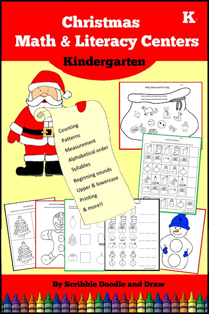 Christmas-printables-for-literacy-and-math-centers-for-kindergarten-and-preschool