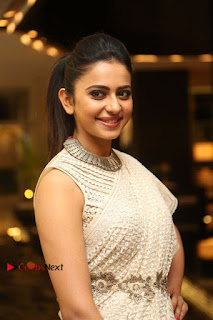 Actress Rakul Preet Singh Stills in White Dress at Winner Pre Release Function  0013.jpg