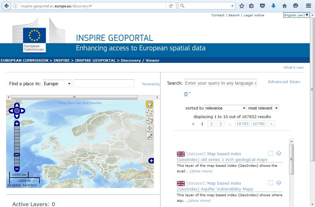 Geoportal INSPIRE