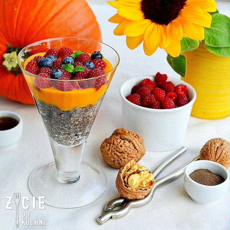 deser z musem z dyni, pazdziernik sezonowe owoce pazdziernik sezonowe warzywa, sezonowa kuchnia, pazdziernik, zycie od kuchni