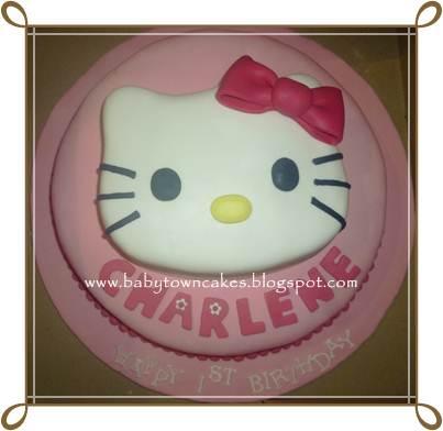B A B Y T O W N C A K E S Hello Kitty Cake For Charlene