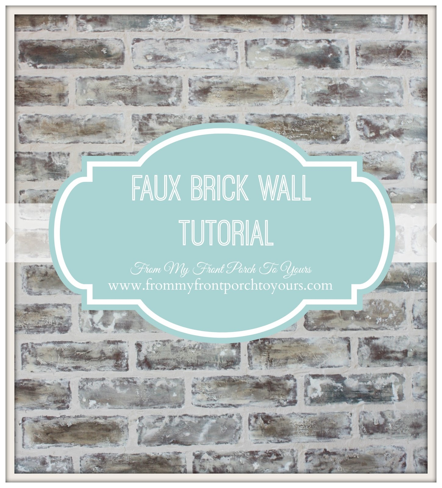 Painting Faux Brick White