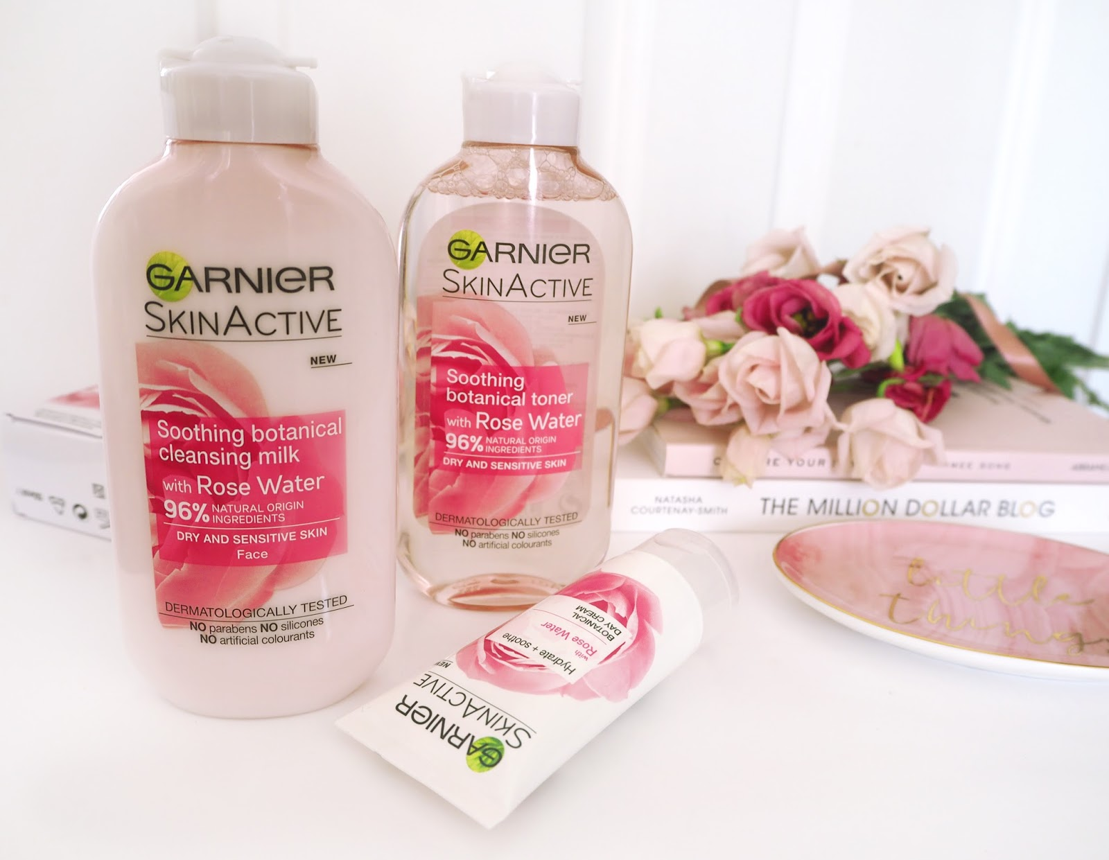 Garnier Skin Active Collection, Katie Kirk Loves, UK Blogger, Beauty Blogger, Skincare Blogger, Rose Water, Beauty Review, Skincare Review