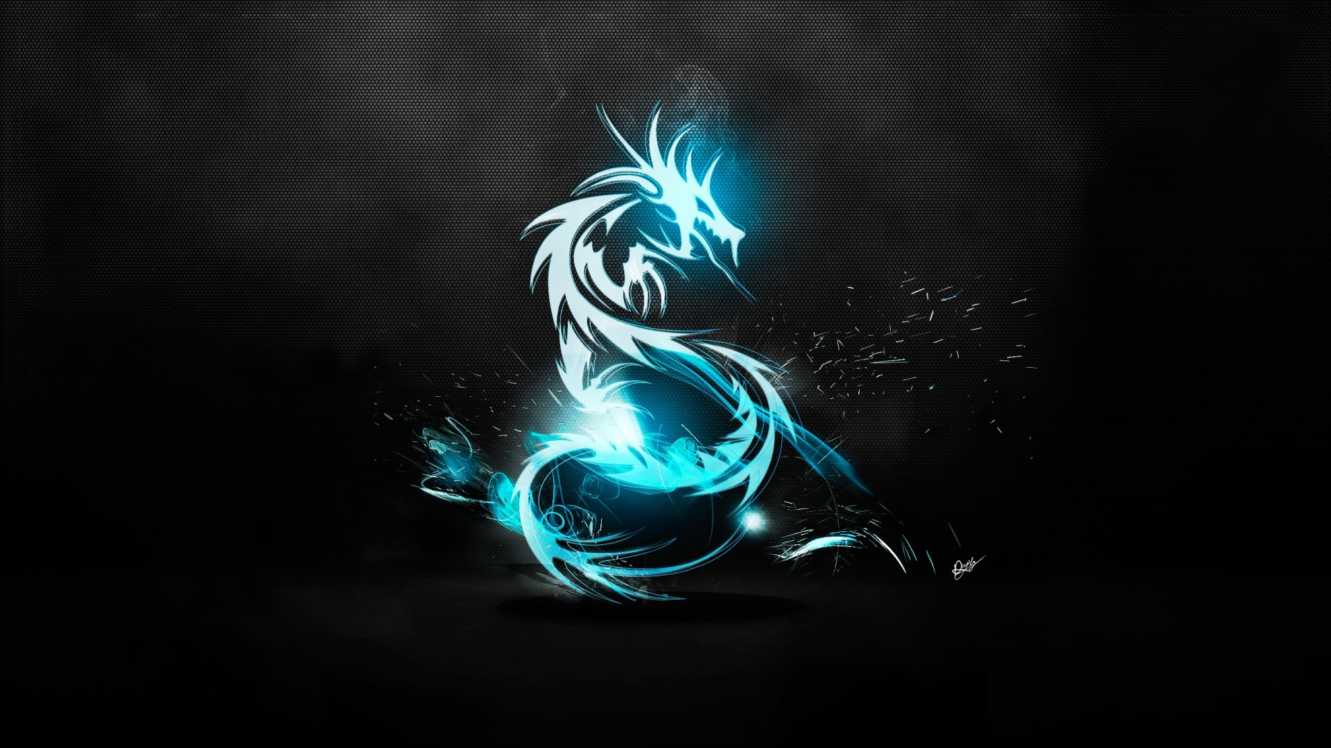 Blue Dragon Background